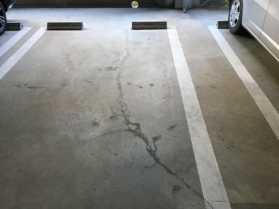 駐車場 漏水状況
